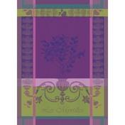 Kitchen Towel Myrtilles Violet, Cotton - 1ea