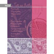 """Tarte Aux Myrtilles Violet Kitchen Towel 22""""x30"""", 100% Cotton"""