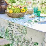 """Jardin Aromatique Floraison 45""""x45"""" Tablecloth, Metis"""