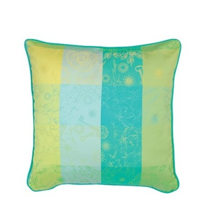 "Mille Alcees Narcisse Cushion Cover  16""x16"", 100% Cotton picture"