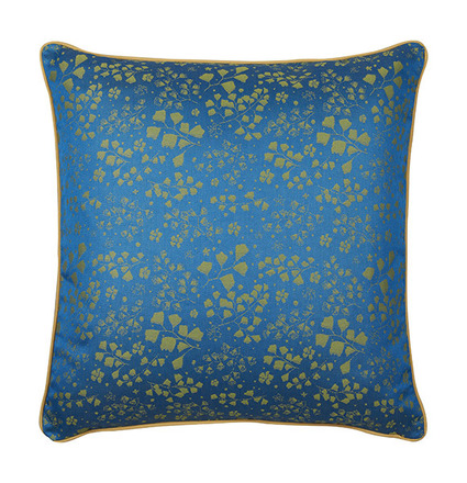 "Mille Branches Mini Paon Cushion Cover 16""x16"", 100% Cotton picture"