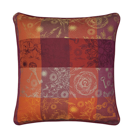 """Mille Alcees Feu Cushion Cover 16""""x16"""", 100% Cotton picture"""