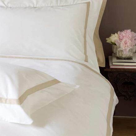 Versailles White with Ivory Band 400TC King Duvet Set picture