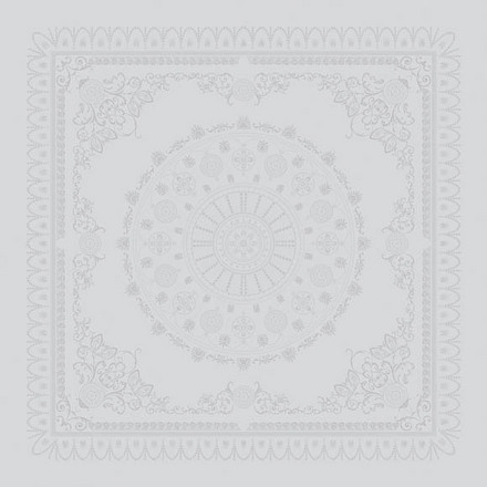 "Napkin Eloise Blanc 21""x21"" , Set of 4 picture"