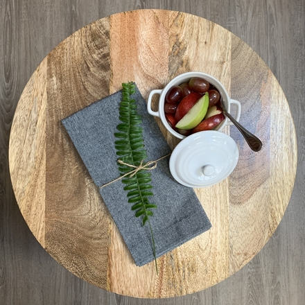 Recycled Cotton Napkin Grey, 100% Cotton picture