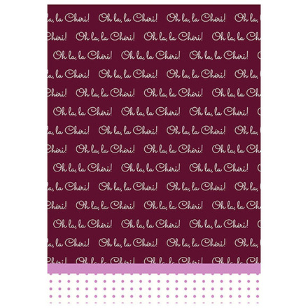 Oh La la Cherie Pourpre Printed Kitchen Towel picture