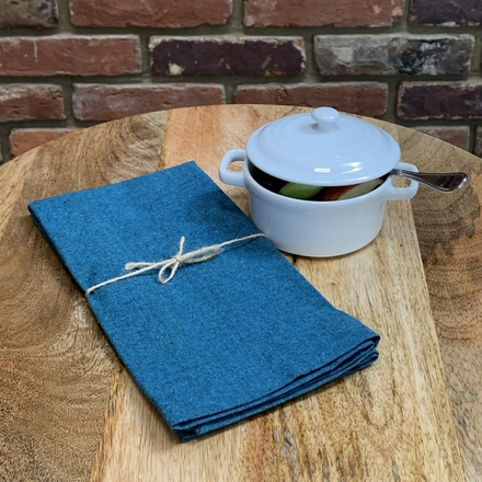 Recycled Cotton Napkin Teal, 100% Cotton picture