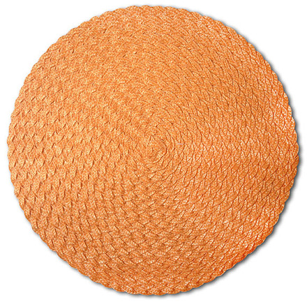Pack of 4 Rosette Orange Vinyl Placemat picture