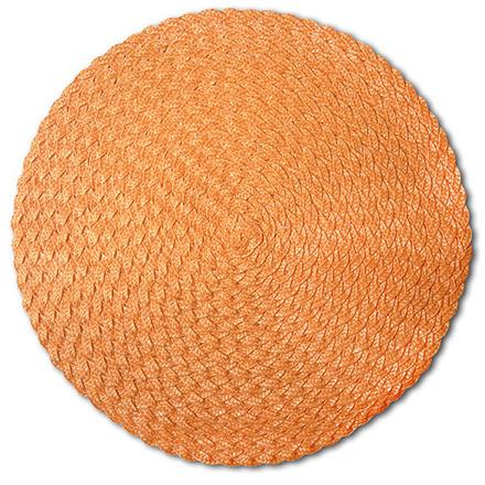 Pack of 4 Rosette Orange Vinyl Placemat picture