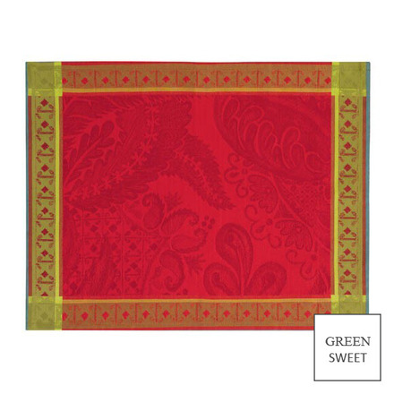 "Isaphire Rubis Placemat 21""x15"", Green Sweet picture"