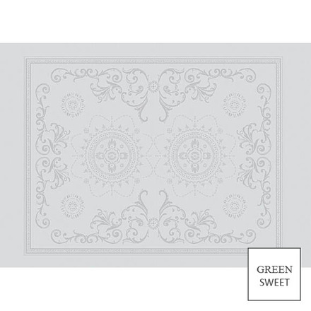 "Placemat Eloise Blanc 20""x16"" , Set of 4 picture"