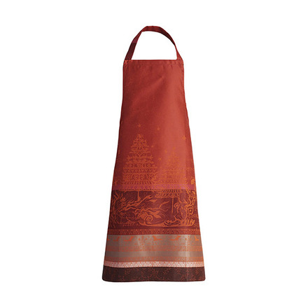 "Chant De Noel Bordeaux Apron 34""x30"", 100% Cotton picture"