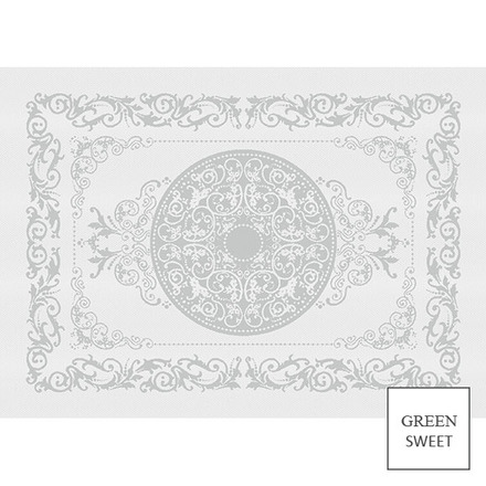 """Comtesse Blanc Placemat 21""""x15"""", Green Sweet picture"""