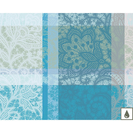 """Mille Dentelles Turquoise Placemat 16""""x20"""", Coated Cotton picture"""