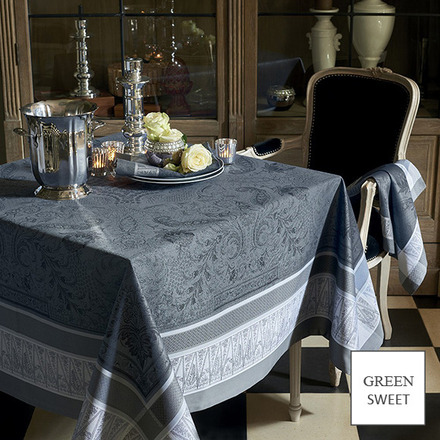 """Persina Noir Tablecloth 69""""x120"""", GS Stain Resistant picture"""