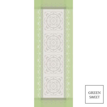 "Eugenie Amande Tablerunner 21""x59"", Green Sweet picture"