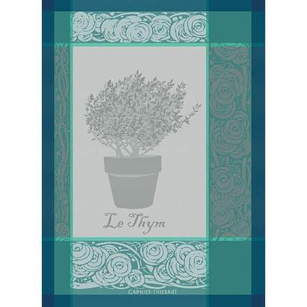 "Kitchen Towel Thym Turquoise 22x30"", Set of 2 picture"