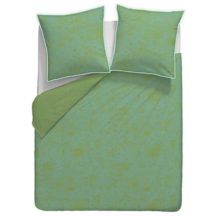 "Mille Couleurs Turquoise Duvet Cover 93""x93"", 100% Cotton picture"