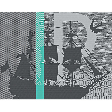 "Pirates Vert Placemat 14""x18"", GS Stain Resistant picture"