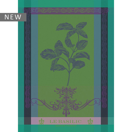 "Brin de Basilic Vert Kitchen Towel 22""x30"", 100% Cotton picture"