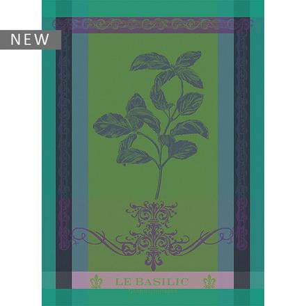 """Brin de Basilic Vert Kitchen Towel 22""""x30"""", 100% Cotton picture"""