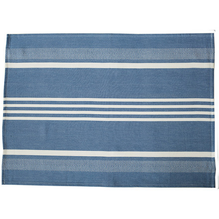 Blue and White Regata Large Herringbone Stripe Kitchen towel picture