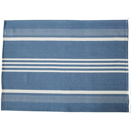 Blue and White Regata Large Herringbone Stripe Kitchen towel picture