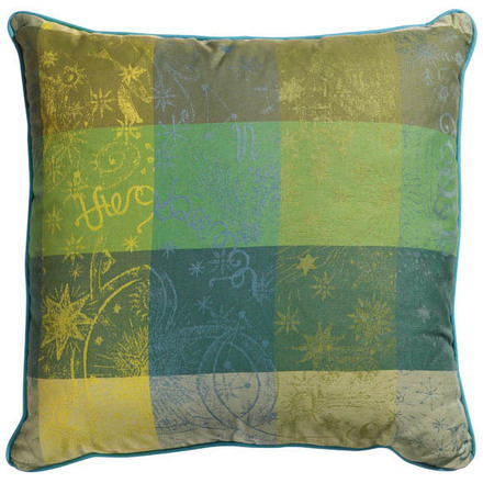 Cushion Cover L Mille Couleurs Lime, Cotton - 2ea picture