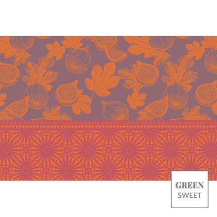 """Figuier Set Violet Placemat 19""""x13"""", Green Sweet picture"""