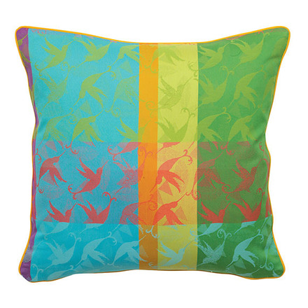 "Mille Colibris Antilles Cushion Cover  16""x16"", 100% Cotton picture"