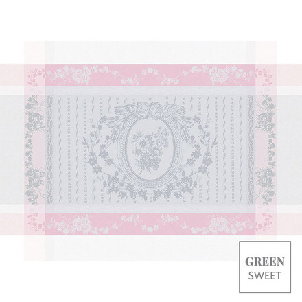 """Lysandra Rose Placemat 22""""x16"""", Green Sweet picture"""