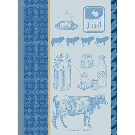 La Vache Et Le Lait Bleu Kitchen Towel, Cotton picture