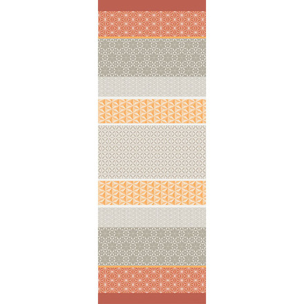 """Mille Geometry Mango Tablerunner 61""""x22"""", Cotton picture"""
