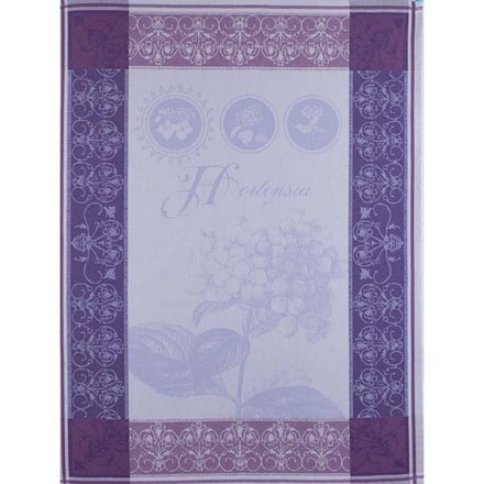 "Torchon Hortensia Bleu Kitchen Towel 22""x30"", 100% Cotton picture"