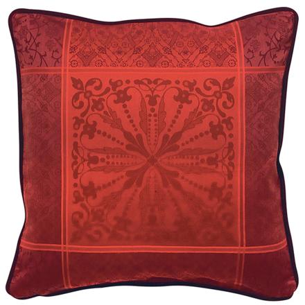 """Cassandre Grenat Cushion Cover  20""""x20"""", 100% Cotton picture"""