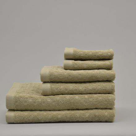 Tropea Taupe 6 pieces Bath Set, 100% Cotton. picture