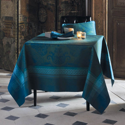 "Tablecloth Isaphire Emeraude 69""x120"" picture"