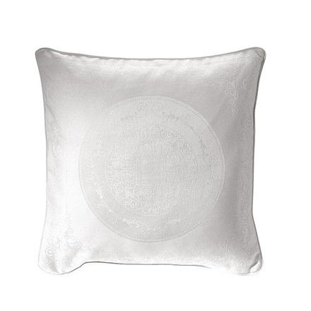 """Cushion Cover Comtesse Blanche White 20""""x20"""", Cotton - 2ea picture"""