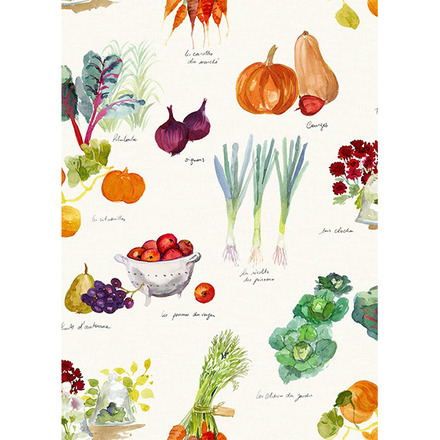 "Mille Jardin Potager Kitchen Towel 20""x28"", 100% Cotton picture"
