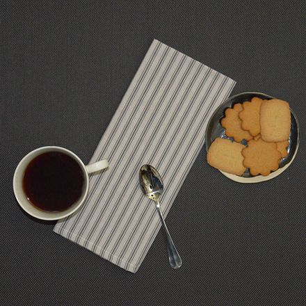 Columni Dark Grey Napkin, Cotton-4ea picture