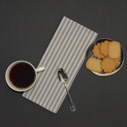 Columni Dark Grey Napkin, Cotton-4ea picture