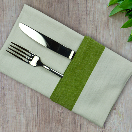 Intramuri Green Napkin, Slub Cotton-4ea picture