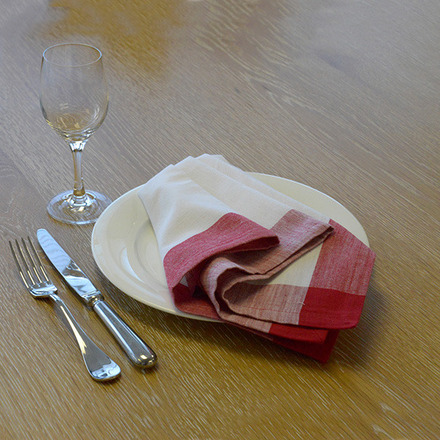 Intramuri Red Napkin, Slub Cotton-4ea picture
