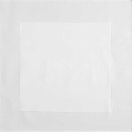 """Partridge Eye Border White Napkins 22""""x22"""", Set of 4, Cotton picture"""