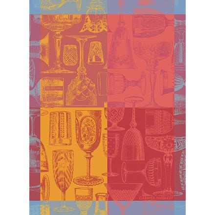 """Verres Et Couleurs Red Kitchen Towel 22""""x30"""", 100% Cotton picture"""