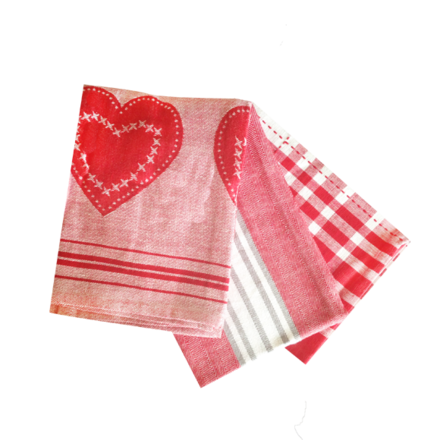 Love In Stripes Kitchen Towels - 3PC SET picture