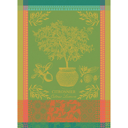 "Citronnier Vert Kitchen Towel 22""x30"", 100% Cotton picture"