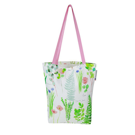 "Mille Herbier Printemps Tote bag 15""x15"", 100% Cotton picture"