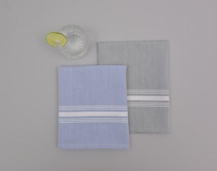 Reverse Bistro Grey Chambrey Napkin, Polyester-4ea picture
