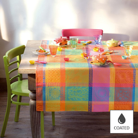 "Tablecloth Mille Wax Creole 69""x69"", Coated - 1ea picture"